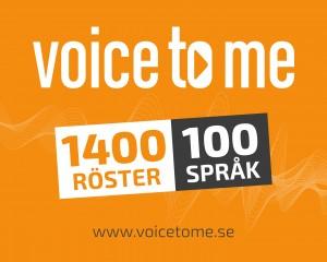 Voice To ME 1400 röster 100 språk