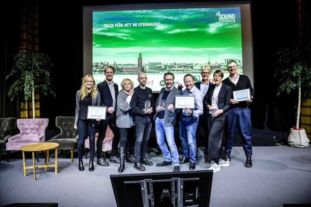 Alla vinnare i Resumé Sound Stockholm Award på Resumé Sound den 30 november 2017 på Hilton Slussen, Stockholm